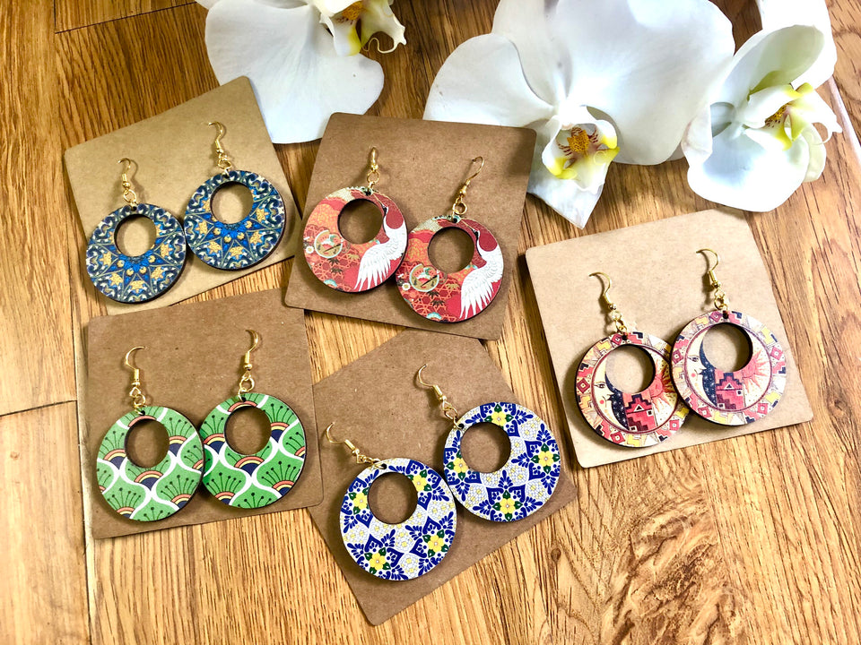 Wooden Earrings KTG016