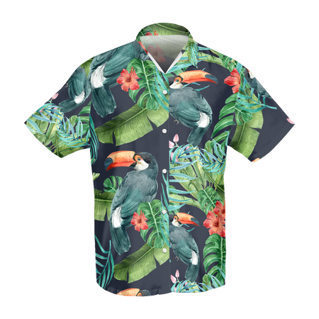 Black Tucan Hawaiian Shirt