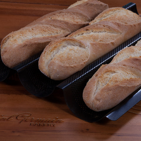 Premium Metallic Perforated Baguette Pan