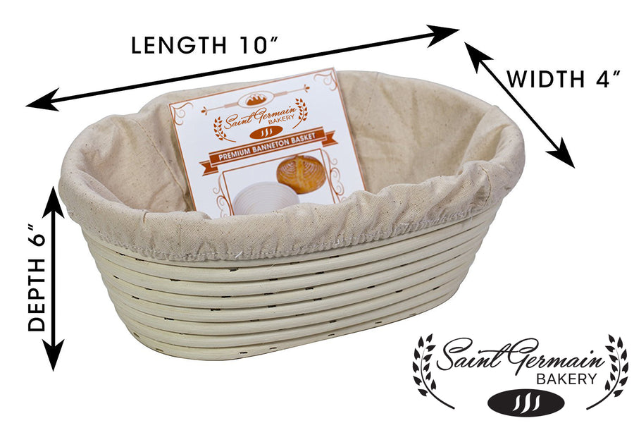 Premium Oval Banneton Basket with Liner