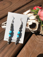 Authentic Navajo Pearl Turquoise Earrings