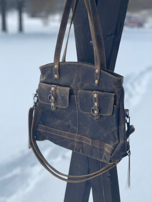 Leather Pocket Detail Bag