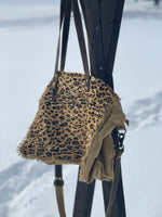 Large Leopard Hide Weekender Bag
