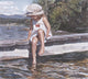 Steve Hanks - Getting Her Feet Wet Signed Open Edition Lithograph