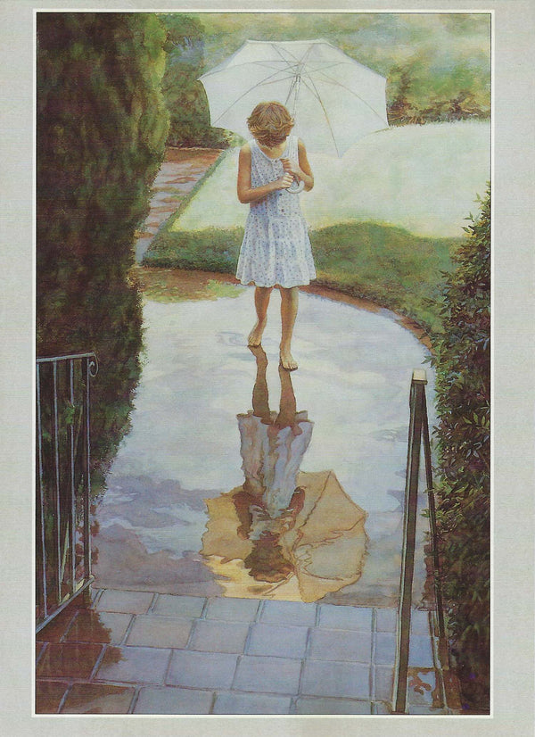 Steve Hanks - Walking In The Rain Notecards
