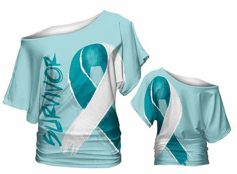 Survivor and Awareness Slouch Shirt (teal)