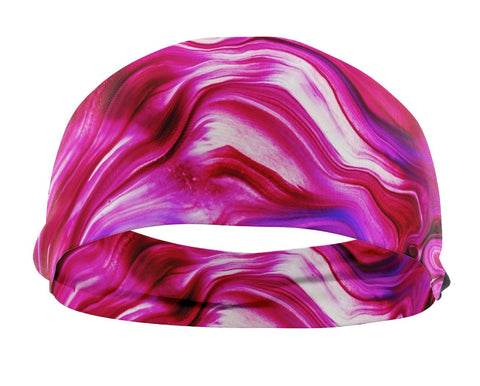 Abstract HeadBand (pink/white tones)