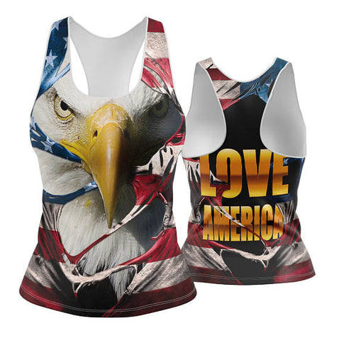 USA Patriotic Eagle Racerback