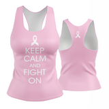 Keep Calm and Fight On Racerback (awareness)