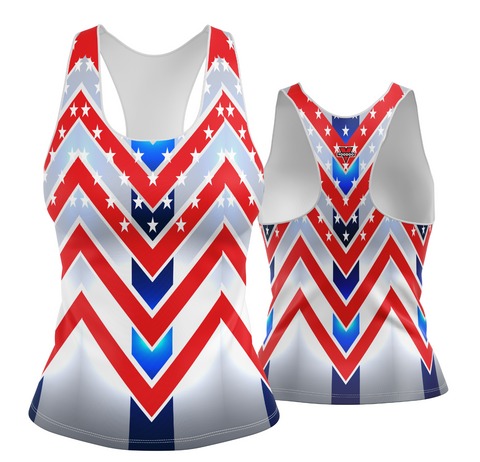 USA Patriotic Chevron Racerback