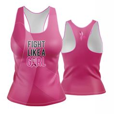Fight Like a Girl Awareness Racerback (pink)