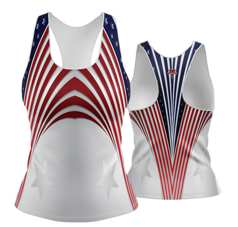 USA Patriotic Streamline Racerback