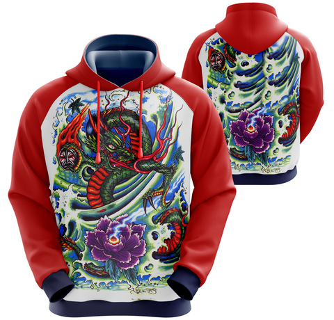 Water Dragon Hoodie Tattoo Inspired Art (unisex sizing)