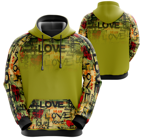 Graffiti Heats and Love Hoodie (unisex sizing)