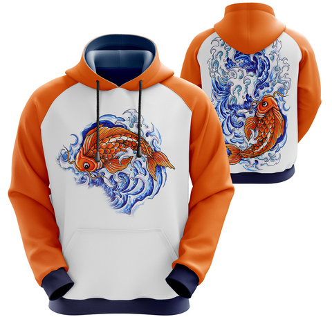 Koi Fish Hoodie Tattoo Inspired Art (unisex sizing)