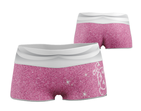 Pink Princess Yoga Shorts 2.5""