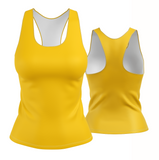 Solid Yellow Racerback
