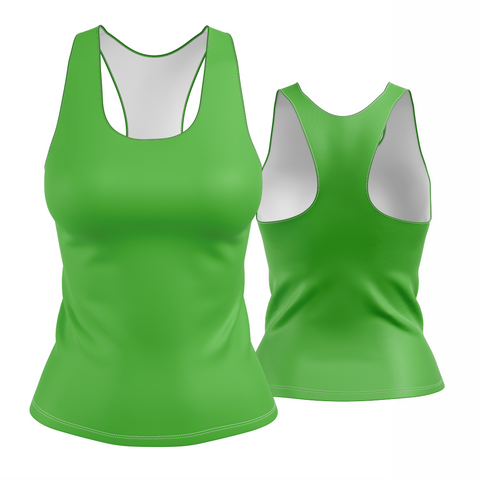 Solid Green Racerback