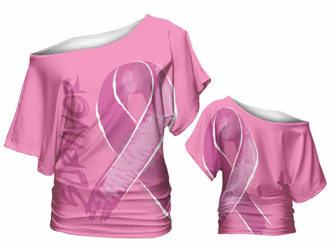 Survivor and Awareness Slouch Shirt (pink/purple)