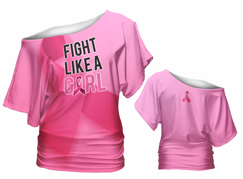 Fight Like a Girl Slouch Shirt (awareness)