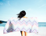 Pastel Chevrons Beach Towel (Oversized)