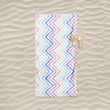Pastel Chevrons Beach Towel