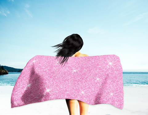 Pink Princess Beach Towel (Oversized)