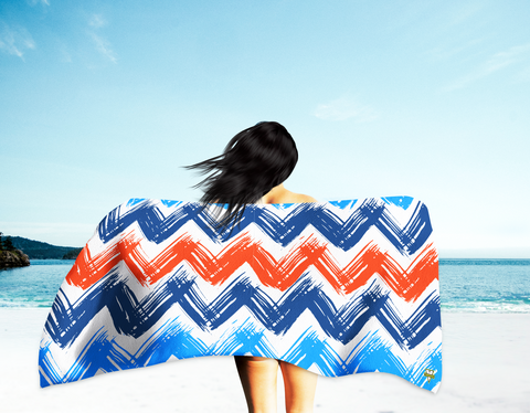 Sketchy Chevrons Beach Towel (Oversized)