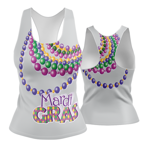 Mardi Gras Racerback (big beads)