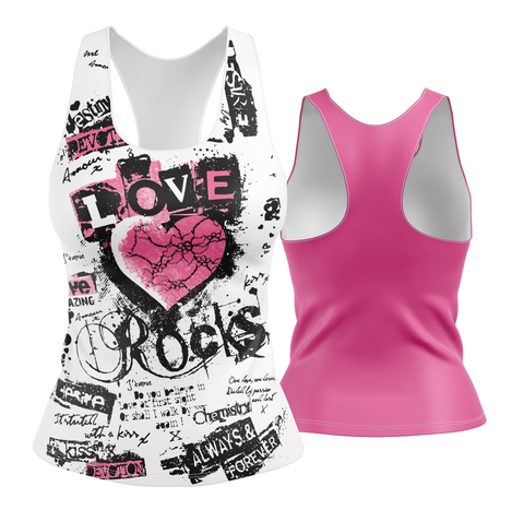 Love Rocks Racerback