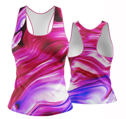 Abstract Racerback (pink/white tones)