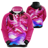 Abstract Hoodie Pink/White Tones (unisex sizing)