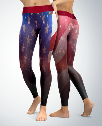 USA Patriotic Star-field Leggings