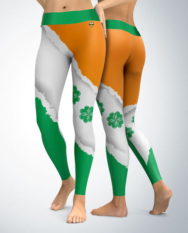 St. Patrick's Day Clover Hearts Leggings