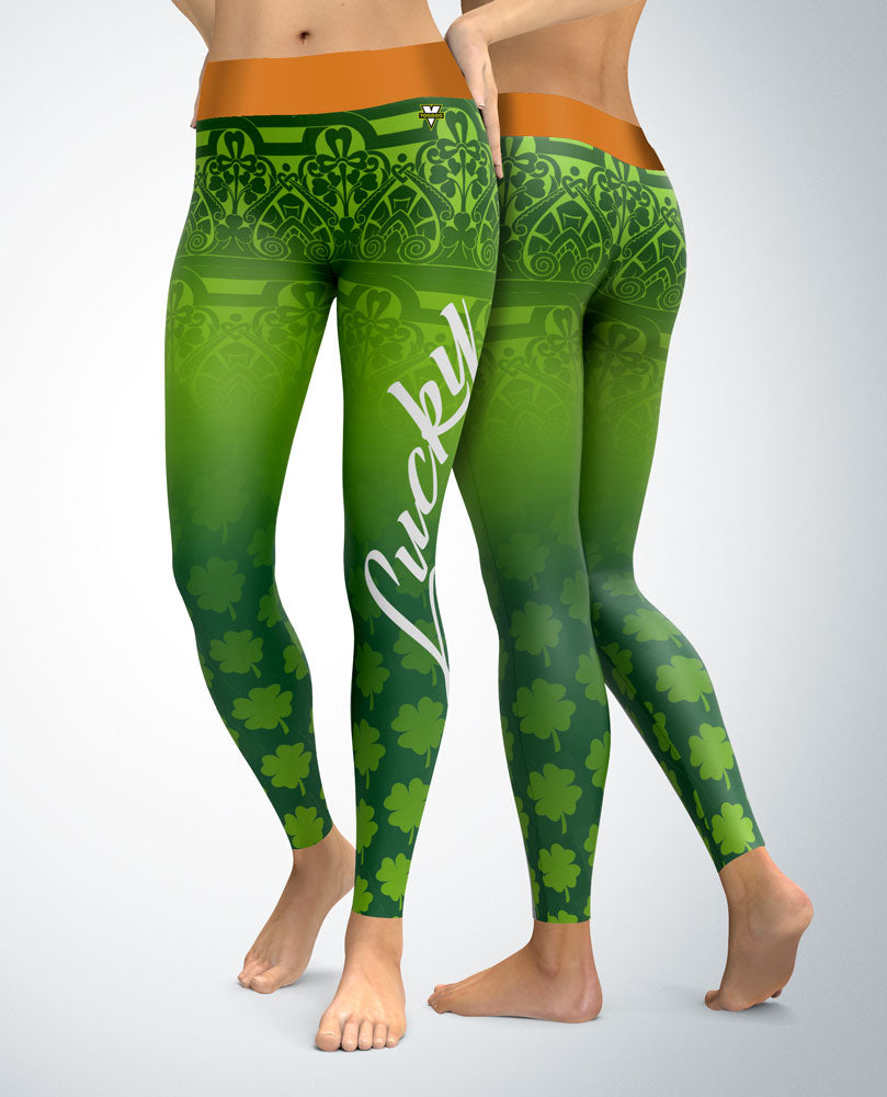 f8cb59779969b1 St. Patrick's Day Lucky Day Leggings – Voodoo Active Woman