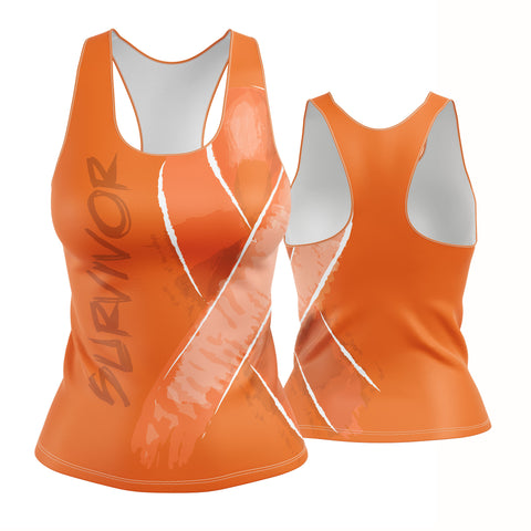 Survivor and Awareness Racerback (orange)