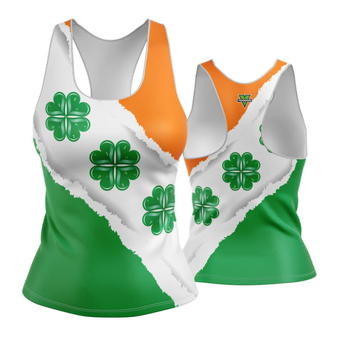 St. Patrick's Day Clover Hearts Racerback