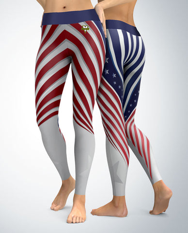 USA Patriotic Streamline Leggings