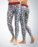 USA Patriotic Hearts Leggings