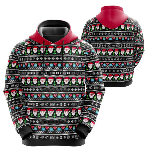 Ugly Sweater Christmas Hoodie (unisex sizing)