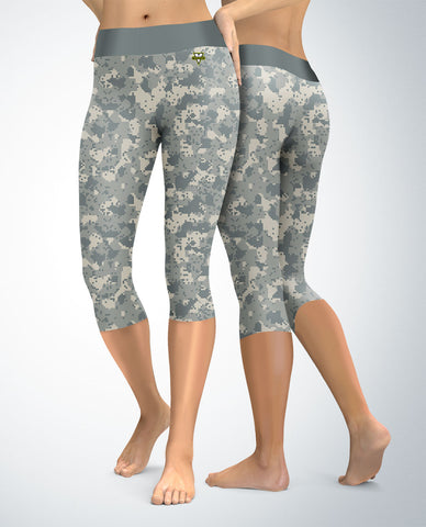 Military Digital Camouflage Capris