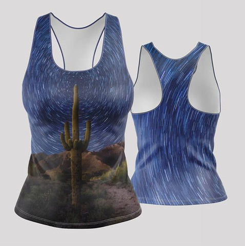 Star Trail Racerback