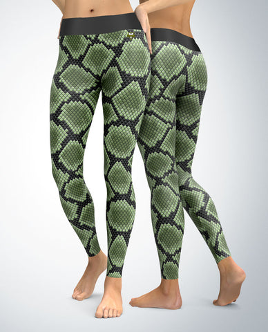 Snakeskin Leggings (green)