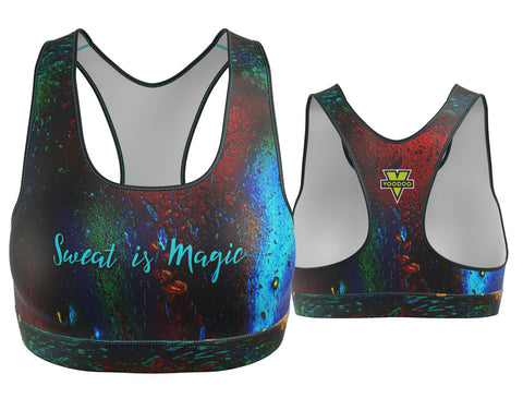 Psychedelic Sweat is Magic Sports Bra