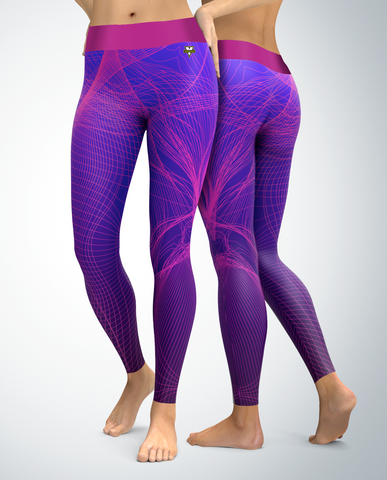 Purple and Pine Lines Leggings
