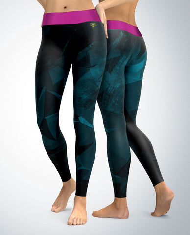 Abstraction Leggings (black/blue tones)