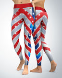 USA Patriotic Chevron Leggings