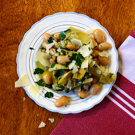 Artichoke, Butterbeans, Grana Padano, Italian Parsley (Vegetarian)