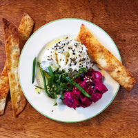 Dukkah-crusted Labneh with Beetroot Salad