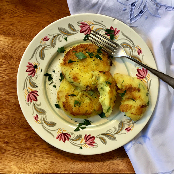 Potato Cakes with Spring Onion (Vegetarian)